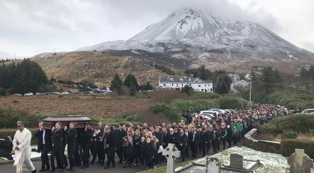 The funeral of Micheal Roarty (Michael McHugh/PA)