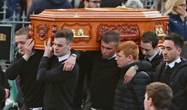 Daniel Scott's friends showed him deep loyalty, the priest at his funeral said (Niall Carson/PA)