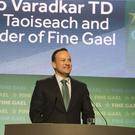 Taoiseach Leo Varadkar at the Fine Gael National Conference in Wexford (Patrick Browne/Fine Gael/PA)