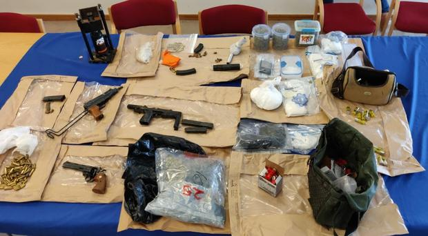 Gardai seized firearms and drugs during a search of a premise in Dublin (An Garda Siochana/PA)