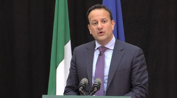 Taoiseach Leo Varadkar announces the National Broadband Plan (Michelle Devane/PA)