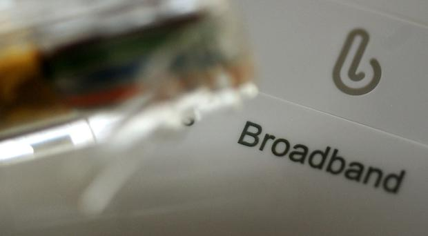 A broadband router and cable (Rui Vieira/AP)