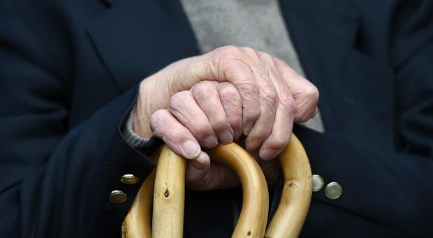 An elderly man at Rowheath House retirement home in Birmingham (Joe Giddens/PA)