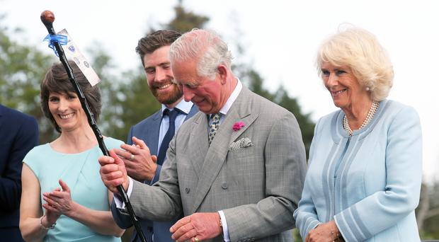 The Prince of Wales and The Duchess of Cornwall during a visit to Powerscourt House (Chris Jackson/PA)