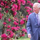 The Prince of Wales and The Duchess of Cornwall arrive for a dinner at Glencairn House in Co Wicklow, on the first day of their visit to Ireland (Owen Humphreys/PA)