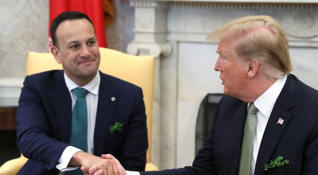 Leo Varadkar met Donald Trump at the White House (Brian Lawless/PA)