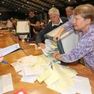 Ballots are counted in the European Parliament and council elections (Niall Carson/PA)