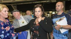 Sinn Fein leader Mary Lou McDonald at the local election count at City West outside Dublin