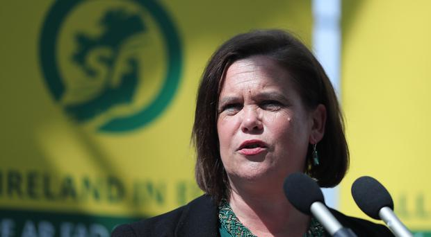 Mary Lou McDonald has defended her position as leader of Sinn Fein (PA)