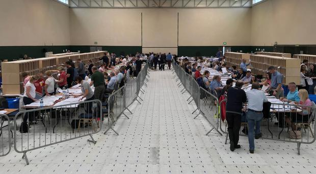 Counting at the Ireland South European elections in Co Cork will continue for another day (Michelle Devane/PA)