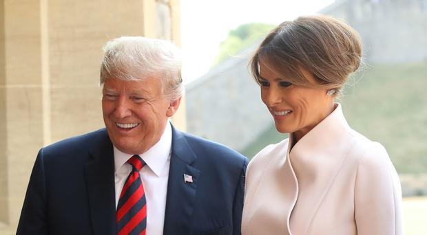 US President Donald Trump and first lady Melania Trump will visit Ireland while on a visit to Europe in June (PA)