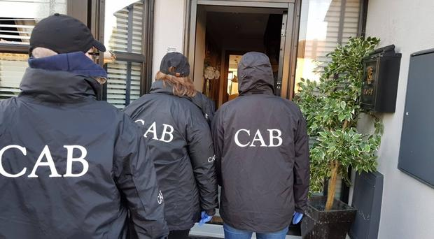 The Criminal Assets Bureau searched a home in north Dublin on Tuesday (Criminal Assets Bureau/PA)