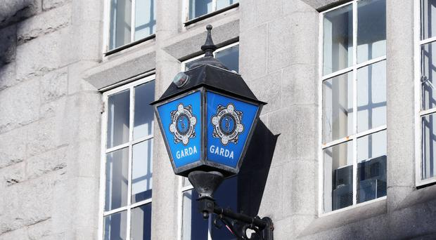 The Garda badge logo on Dublins Pearse Street station (Niall Carson/PA)