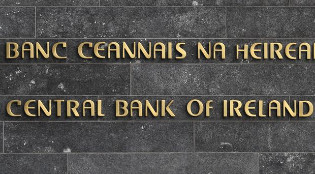The logo at the Central Bank of Ireland (Niall Carson/PA)