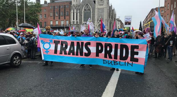 The Trans Pride parade took place in Dublin (Aoife Moore/PA)