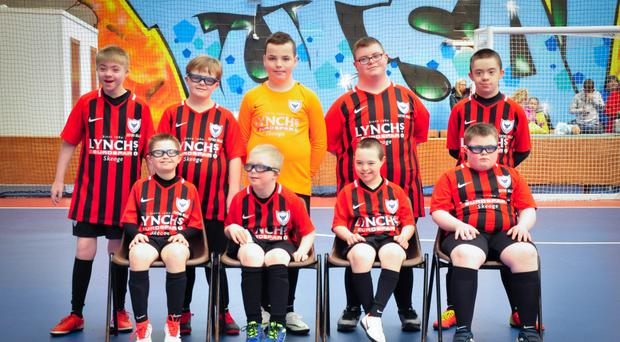 The Oxford Bulls, a team made up of children with Down's Syndrome from the Derry City and Strabane District Council area (Oxford Bulls/PA)
