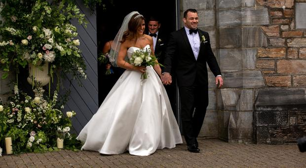 Cian Healy and Laura Smith's wedding last month in Clifden