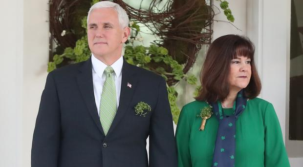 United States Vice President Mike Pence and his wife Karen (Niall Carson/PA)