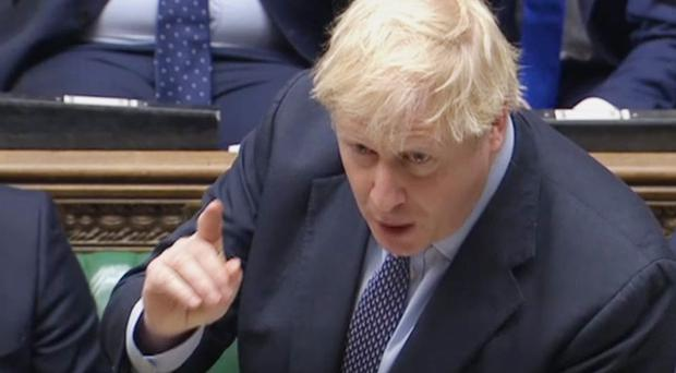 Prime Minister Boris Johnson responds to questions after he delivered his statement on his new Brexit deal in the House of Commons, London, on what has been dubbed Super Saturday (House of Commons/PA)