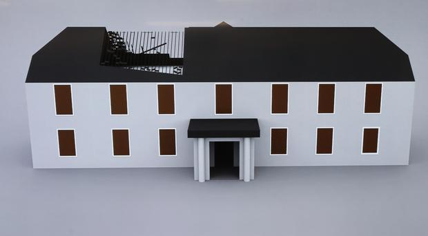 A 3D rendering of Glenwood House, shown to the media by Gardai (Niall Carson/PA)