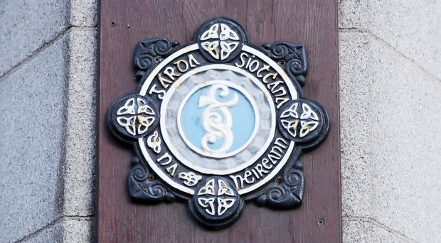 A stock picture of the Garda badge logo on Dublins Searse Street station. PRESS ASSOCIATION Photo. Picture date: Wednesday January 16, 2019. Photo credit should read: Niall Carson/PA Wire