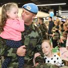 Members of the defence forces have returned to Dublin after a deployment to Lebanon (Brian Lawless/PA)