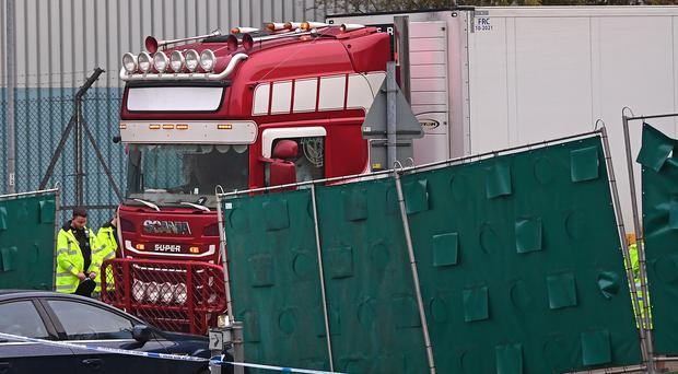 The container lorry where 39 people were found dead (Victoria Jones/PA)