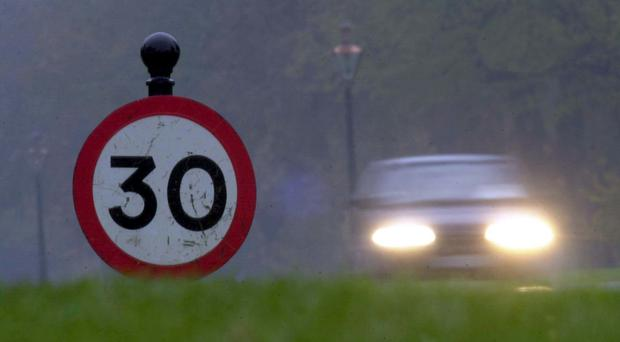 A speed limit sign in Phoenix Park (Haydn West/PA)