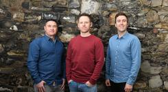 Neil McCabe(left), Damian Bligh and Stephen O'Reilly, founders of Grown (PA)