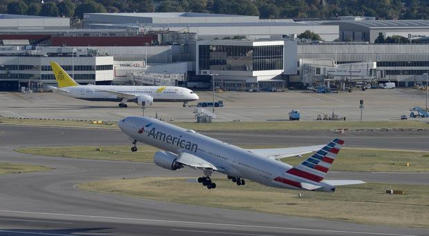 The American Airlines aircraft took off from London's Heathrow Airport (Hannah McKay/PA)