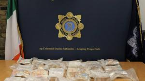 A man has been arrested after gardai found more than one million euro in cash after stopping a van in Co Kildare (An Garda Siochana)