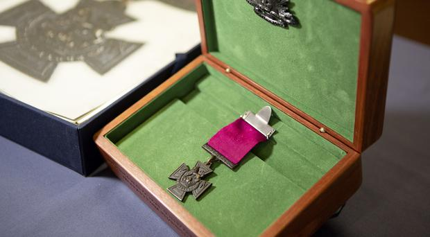 The Victoria Cross medal awarded to Sergeant Martin O'Meara, who served with the Australian army during the First World War (Department of Defence, Australia/PA)