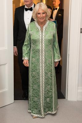 Camilla wore green (Jeff Spicer/PA)
