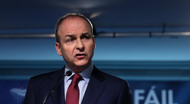 Fianna Fail leader Micheal Martin at the party's opening press conference of the General Election (Brian Lawless/PA)