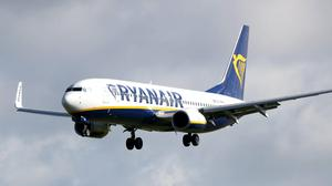 Ryanair has confirmed its plan to ramp up flights to 40% of its normal schedule from July 1 (Niall Carson/PA)