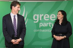 Catherine Martin said there would not be easy times ahead and the party needed strong leadership (Brian Lawless/PA)