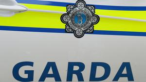 The Garda logo on a Garda vehicle in Dublin.