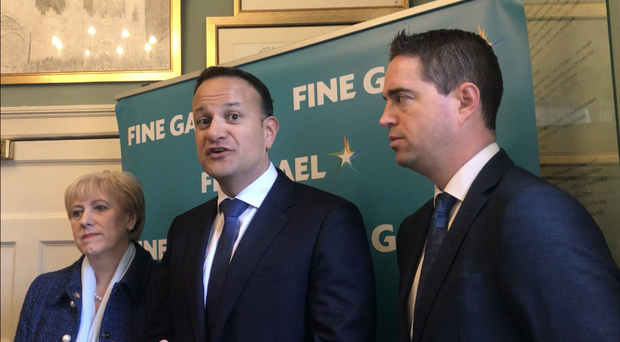Leo Varadkar, centre, said he is ready for a general election (Cate McCurry/PA)