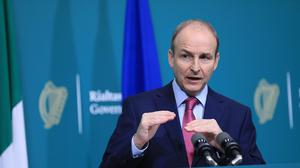 Taoiseach Micheal Martin during a press conference at Government Buildings (Julien Behal Photography/PA)