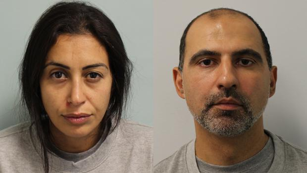 Sabrina Kouider and Ouissem Medouni have been found guilty of murdering their French nanny Sophie Lionnet. PA Wire / Met handout