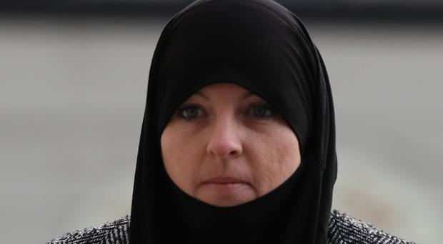 Alleged IS member Lisa Smith arrives at the Central Criminal Court, Dublin, for a court hearing (Brian Lawless/PA)