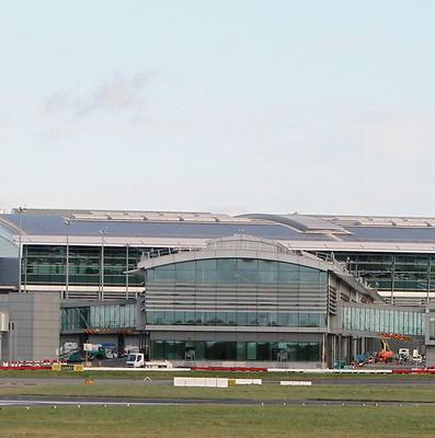 A general view of Dublin airport after an off-duty pilot stepped in to help land a plane being diverted to Dublin Airport after a co-pilot fell ill.