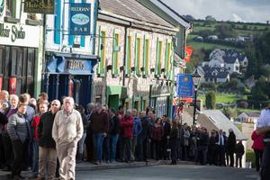 Crowds queue to pay their respects