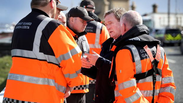 Enda Kenny talks to search and rescue teams