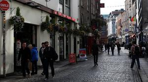 Aggressive begging and drug taking is causing problems in Dublin city centre, the Dail has heard