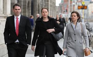 Sean Quinn Jr, Aoife and Brenda during the long legal action at the Four Courts in Dublin
