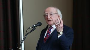 Irish President Michael D Higgins said in an Easter message that Irish people are being tested like few other times in recent memory (Danny Lawson/PA)