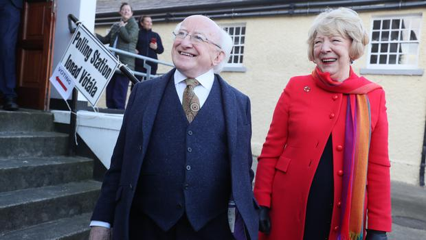 President Michael D Higgins and his wife Sabina Higgins (Brian Lawless/PA)