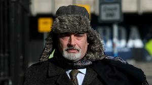 Ian Bailey arrives at the High Court for his continuing lawsuit against the state for the Garda's handling of the investigation into the murder of French film-maker Sophie Toscan du Plantier