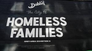 A mural in Dublin's city centre highlighting efforts to combat Dublin's homelessness crisis (Brian Lawless/PA)
